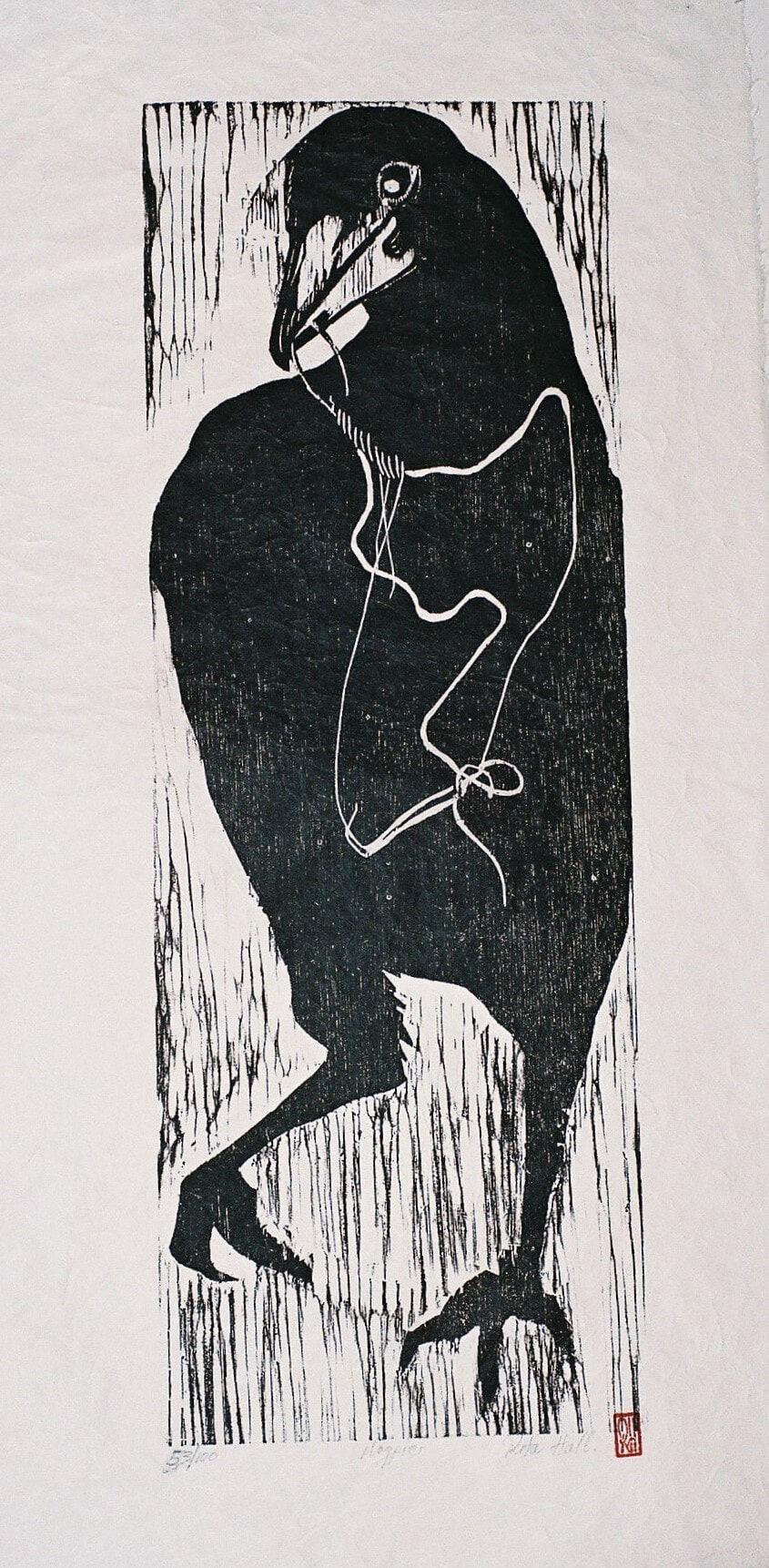 Magpie 1989 Wood Block 100 x 50cm