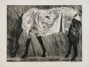Grazing Horse 1st State 1995 Etching 56 x 76cm