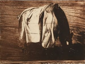 Fenced Horse 1995 Etching Sepia 56 x 76cm