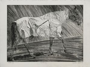 Walking Horse Stage I 1995 Etching 56 x 76cm