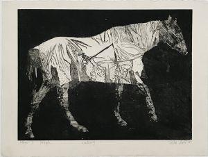 Walking Horse Stage II 1995 Etching 56 x 76cm
