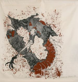 Decomposing Goanna 1984 Screen Print 124x117cm