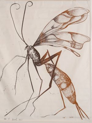 Wasp 1983 Screen Print  108x82cm