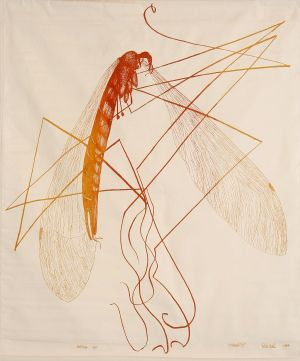 Cranefly 1984 Screen Print 112x85cm
