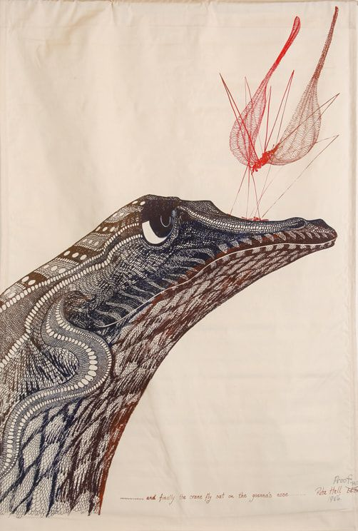 """…and the crane fly sat on the goanna's nose"""" 1986"""
