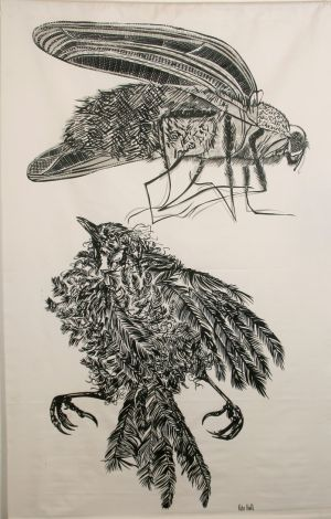 Dead Bird And Blowfly 1979 Screen Print 185x118cm