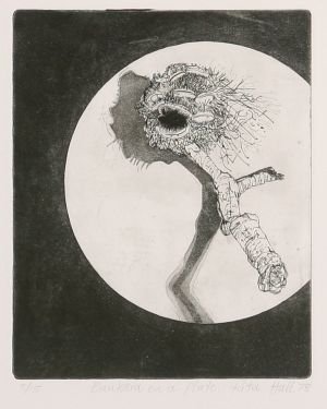 Banksia On A Plate 1978 Etching Image 25 x 20cm