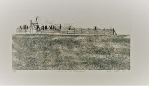 Crows on the Stockyard 1977 56 x 76 Etching