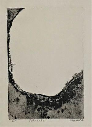 Dark Lake 1976 76 x 56 Etching (Possibly make to no 9)