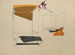 Drink Tent 1978 56 x 76cm Ink and Gouache