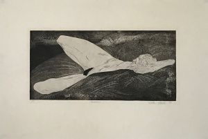 Woman 1991 Etching 50 x 72cm