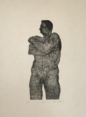 Man 1987 Etching 76 x 56cm