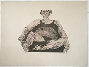 Pregnant Woman 1987 Etching 56 x 76cm