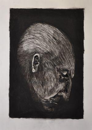 'Next Please' 2012 Monotype & Charcoal 70x50cm