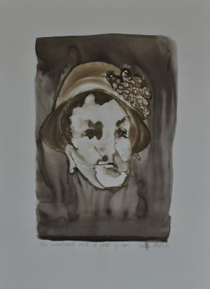 'She sometimes used to pass by here' 2012 Monotype 70x50cm