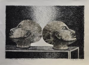 'So, where do we go from here' 2012 Monotype & Charcoal 56x76cm