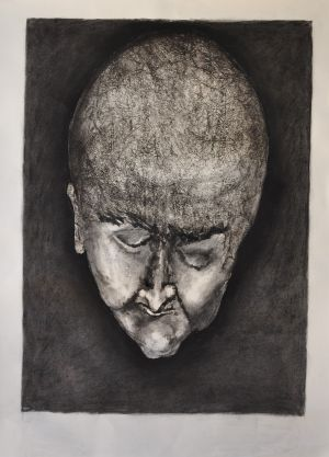 'The road to revenge is filled with treacherous detail - Michael Bryant ' 2012 Monotype & Charcoal 76x56cm