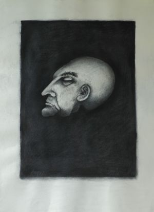 'Waiting for eternity' 2012 Monotype & Charcoal 76x56cm