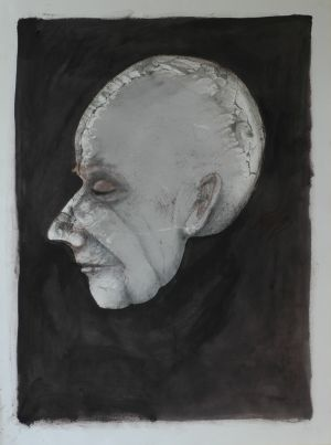 'But they can do so much in medical science these days cant they' 2012 Monotype & Charcoal  76x56cm