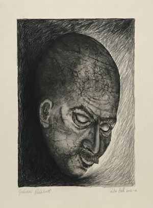 'Graham Pankhurst' 2012 Monotype & Charcoal   76 x 56cm
