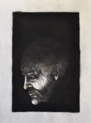'I guess it really comes down to whether you still love me or  not' 2012 Monotype & Charcoal 76x56cm