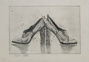 1976 Italian Leather Shoes  - First State 1998 Etching 43 x 61cm