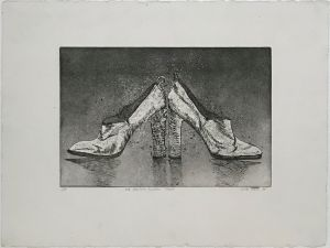 1976 Italian Leather Shoes  AP 1998 Etching 43 x 61cm