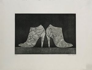 Laced Boots AP 1998 Etching 57 x 76cm