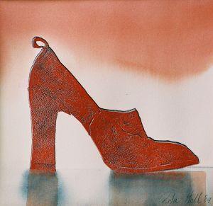 Red Shoe Watercolour