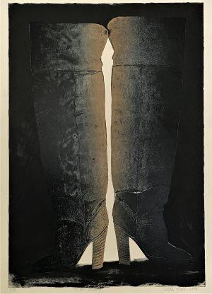 Thigh Boots 1998 Collograph 86 x 61cm