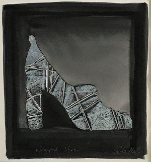 Wrapped Shoe 1998 Collograph, Watercolour, Pastel 34 x 33cm
