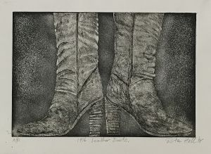 1976 Leather Boots AP 1998 Etching 41 x 61cm
