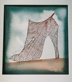 Ankle Boot watercolour