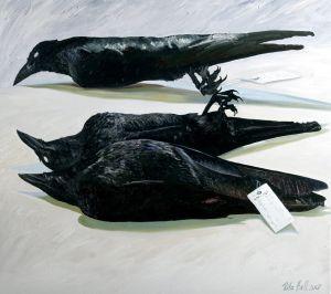Little Crows 2007 Oil on linen 77x84cm