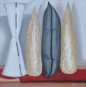 18. Ceramics Oil on Canvas 45 x 45cm