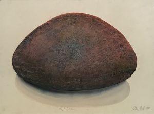 Soft Stone 1990 Collograph, Pastel and Watercolour 56 x 76cm