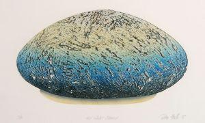 The White Stone 1997 Reduction linocut 30x50cm