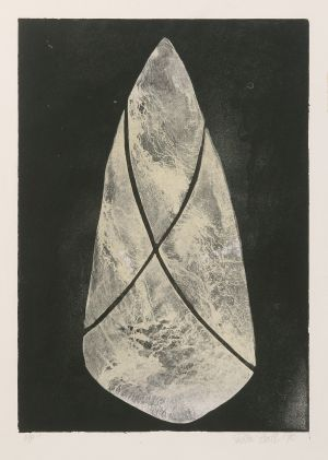 Tied Stone 1990 Etching Image 59x32cm