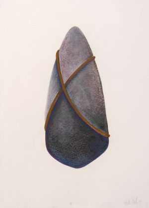 Tied Stone 1991 Collograph and pastel 76 x 56cm