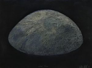 Water Stone 1991 Collograph and Pastel 56 x 76cm