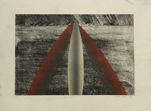 Three Stones 1993 Etching and Collograph 56 x 76cm