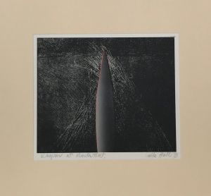 Weapon at Mouth Flat 1993 Etching and Gouache 56 x 62cm