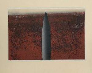 Icon in the Landscape 1993 Relief Etching  56 x 76cm