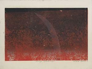 Mungo Lanscape 1993 Relief Etching  56 x 76cm