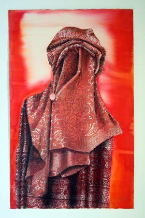 Red berber 2004 63x100cm collograph gouache & pastel