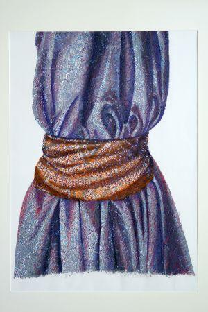 Waist III 2004 65x50cm collograph gouache & pastel