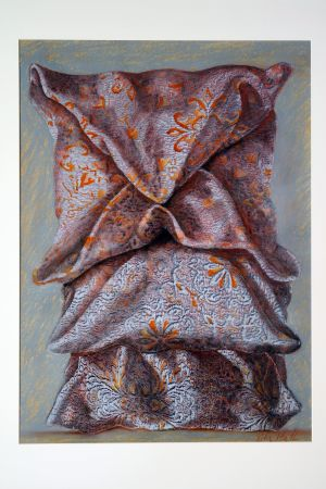Triology 2002 80x58cm collograph gouache & pastel