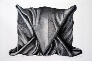 Dark Hood 2004 66x102cm collograph gouache & charcoal