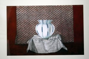 White Bowl 2000 75x120cm collograph pastel