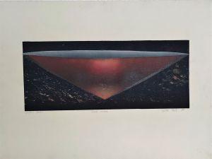 Red Vessel 1999 Collograph 56 x 76cm